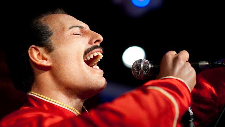 Freddie Mercury, met een wassen versie bijna de echte Beeld ANP