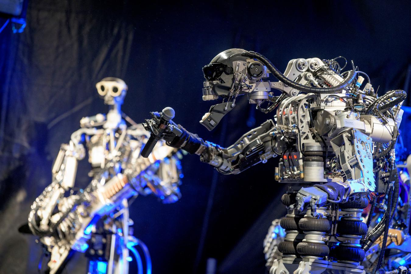 Een van de acts van Gogbot die in 2018 veel publiek trok: de robotband Compressorhead.
