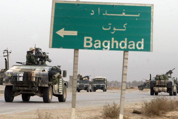 20 maart 2003: de  start van de Amerikaanse invasie van Irak .