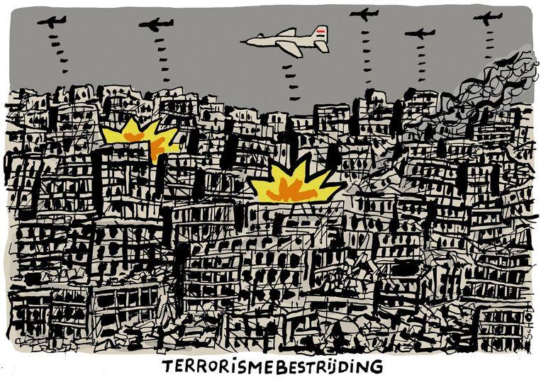 Syrie bombardementen   Illustratie: Bas van der Schot Beeld Bas van der Schot