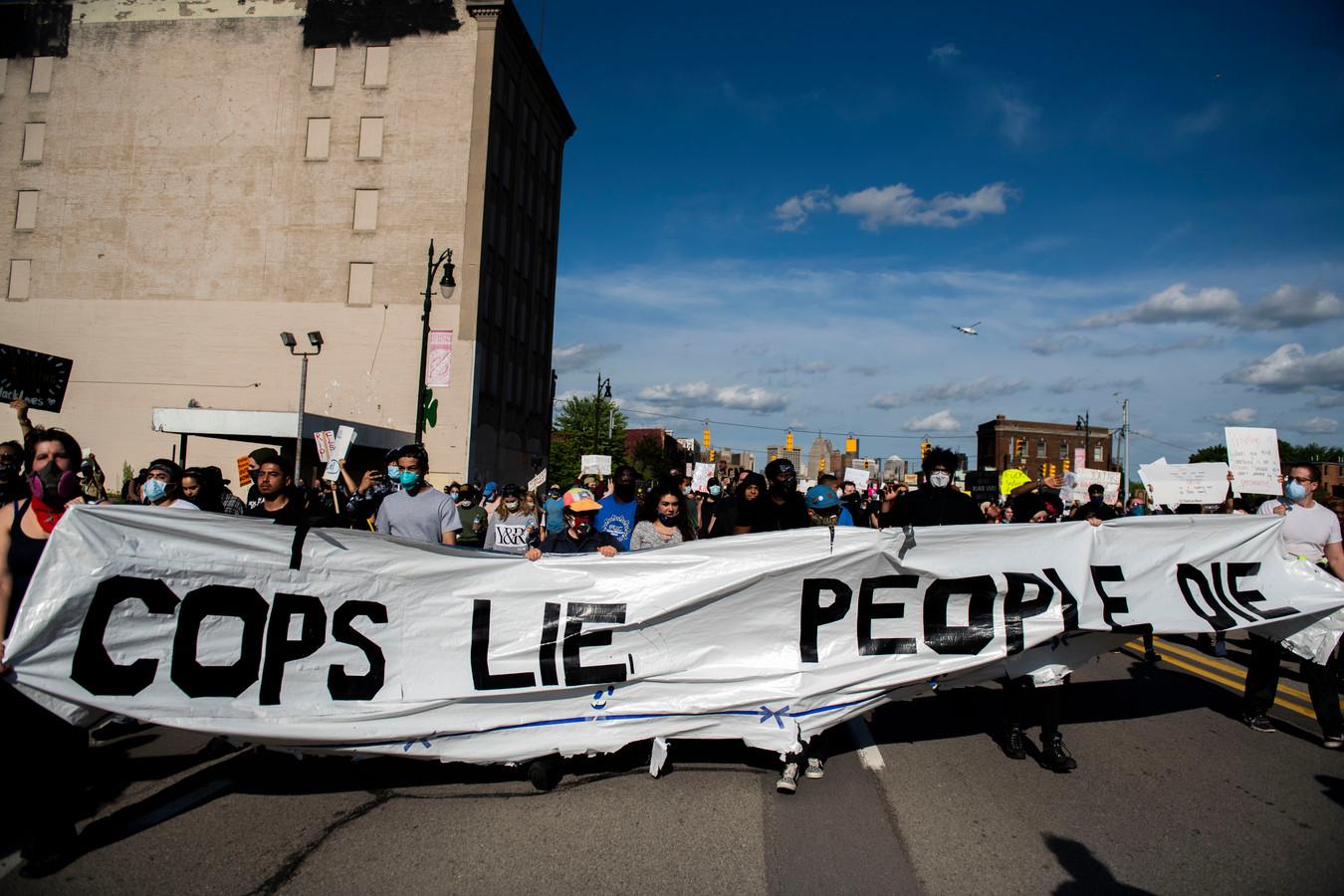 Demonstranten in Detroit (29/05/2020)