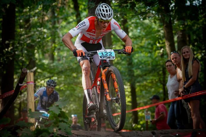 Mathieu van der Poel tijdens het NK van vorig jaar.
