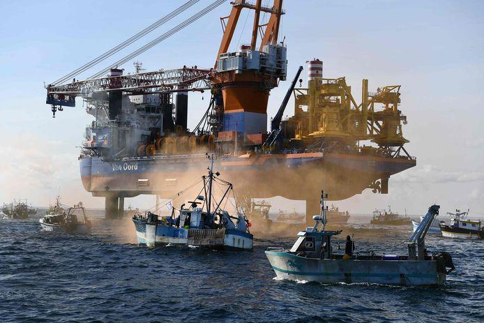 De meeste vissersboten kwamen uit Bretagne maar er waren er ook drie uit Normandië.