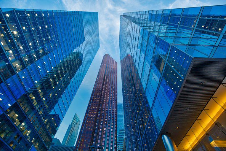 Wolkenkrabbers in Toronto's zakendistrict. Beeld Getty Images/iStockphoto