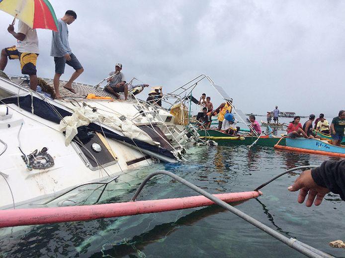 Het zeiljacht van de Duitser werd met gebroken mast gevonden in de Filipijnen.
