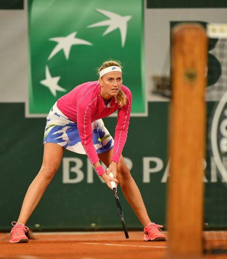 Kvitova voor het eerst sinds 2012 naar laatste acht