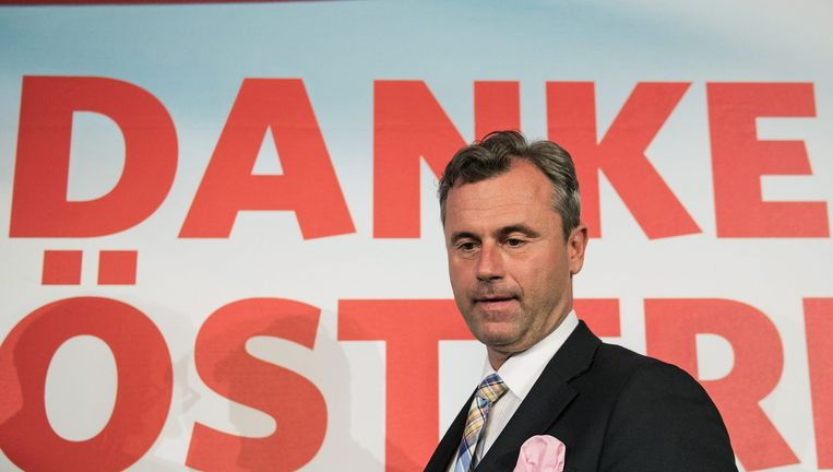 Andreas Hofer van de rechts-populistische FPÖ. Beeld EPA
