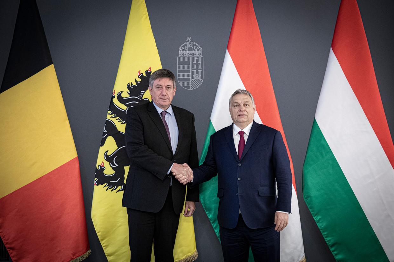 Jan Jambon en Viktor Orbán Beeld BELGA