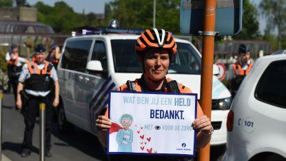 Politie Leuven verrast ziekenhuizen en woonzorgcentra met hartverwarmende actie