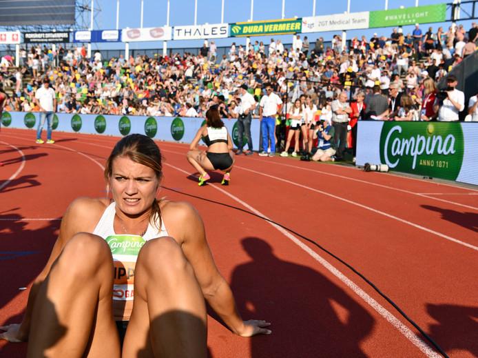 Schippers na haar gewonnen 200 meter vorig jaar in Hengelo.