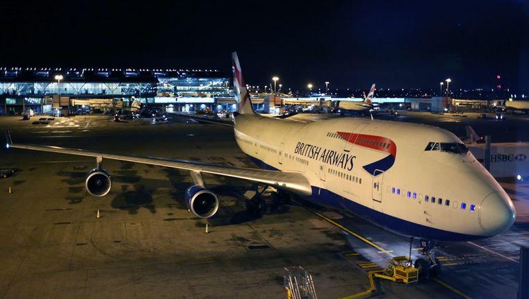 Een Boeing 747-400 van British Airways. Beeld epa