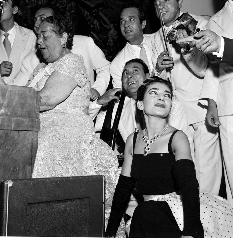 Maria Callas in Venetië in 1957 Beeld RV