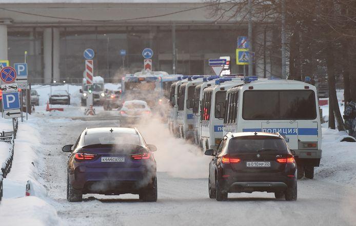 Aan de luchthaven Vnukovo.