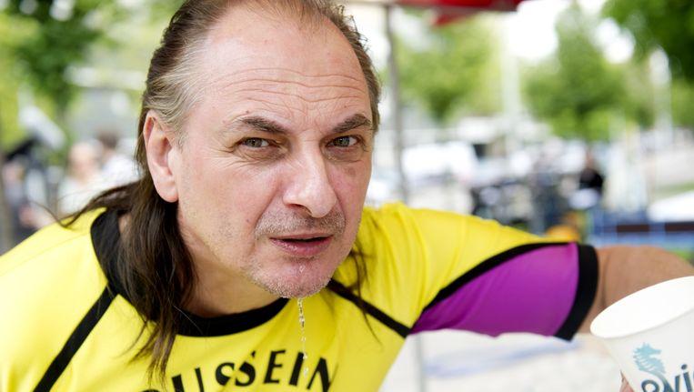 Martin van Waardenberg tijdens opnames van de speelfilm De Marathon. Beeld null