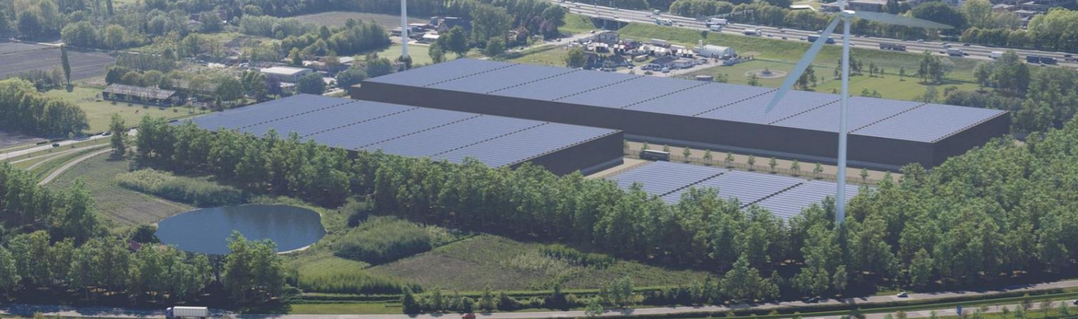 Impressie van het bedrijventerrein dat de twee bedrijven willen ontwikkelen aan de Ambrosiusweg.