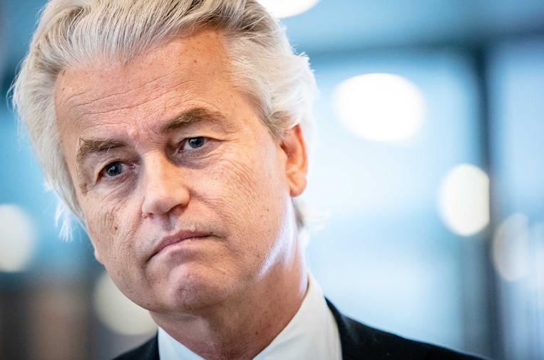PVV-leider Wilders deed de uitspraken tijdens een campagnebijeenkomst in 2014.  Beeld ANP