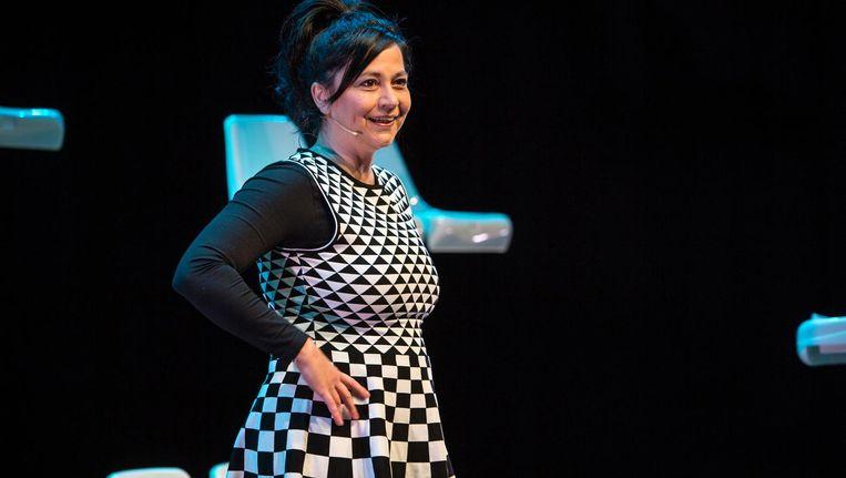 Ellen Dikker: 'De voorstelling gaat over het lange pad dat ik nodig bleek te hebben' Beeld Eric van Nieuwland