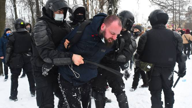 Ruim 5.000 arrestaties bij nieuwe massale protesten van Navalny-aanhangers in Rusland
