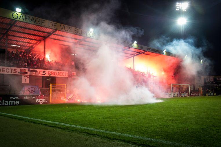 Het parcours loopt onder meer langs het Daknamstadion van Sporting Lokeren.