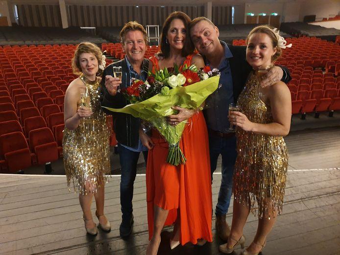 Wendy Van Wanten stelde maandag haar concert voor, met Luc Steeno en Steve Tielens op het podium.