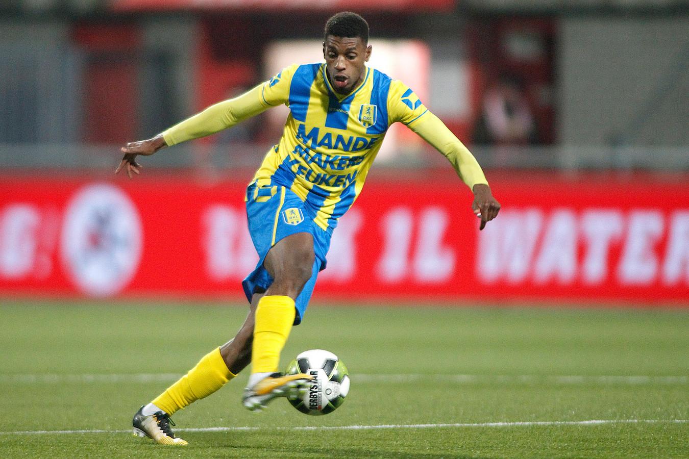 Said Bakari scoorde voor RKC Waalwijk 2 bij de competitie-ouverture tegen Roda JC 2.