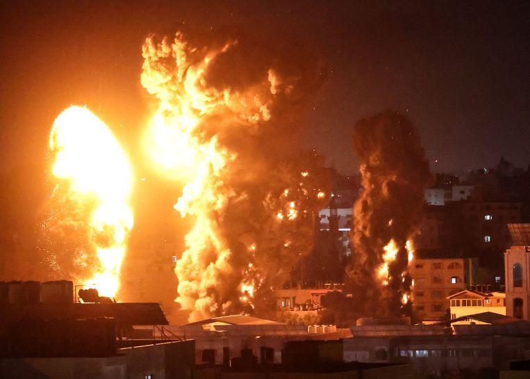 Opnieuw zware luchtaanvallen op Gaza. Beeld AFP
