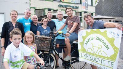 Voor goed doel fietsen van Parijs naar Zingem