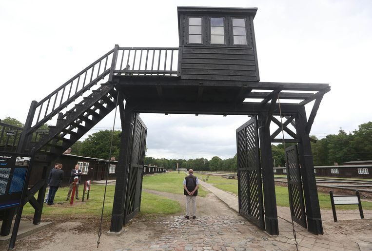 Het concentratiekamp van Stutthof, vanwaar de dodenmars van duizenden Joodse vrouwen vertrok. Ook Waalse soldaten zouden betrokken geweest zijn, blijkt nu uit onderzoek van de RTBF. Beeld AP