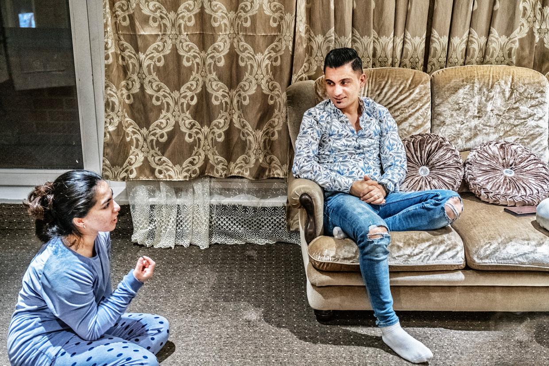 Amer Phrast (26) en Ali Shamdin (27), de ouders van de in 2018 neergeschoten Mawda.  Beeld Tim Dirven