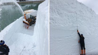 Sneeuwruimen begonnen op bergpas in Oostenrijk: er ligt nog muur van 8 meter hoog