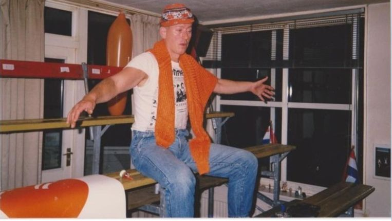 Henk Winters in stadion Winters Beeld Henk Winters