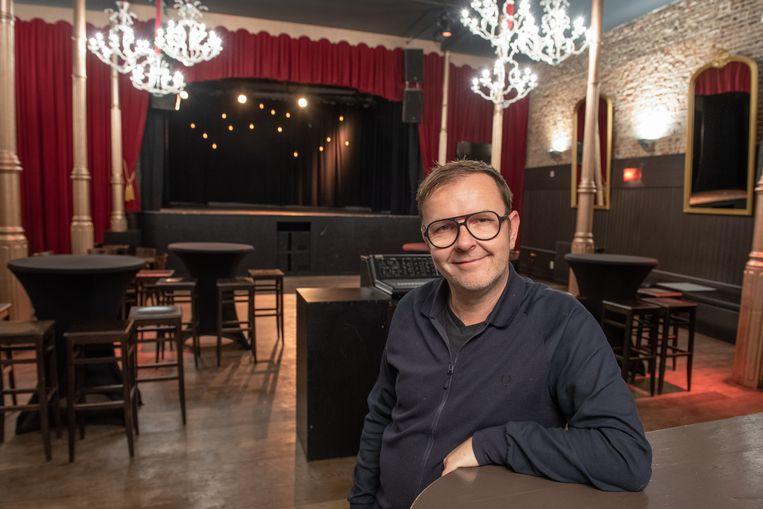 Wim Merchiers, apetrots op de de komst van Geike Arnaert en Daan.