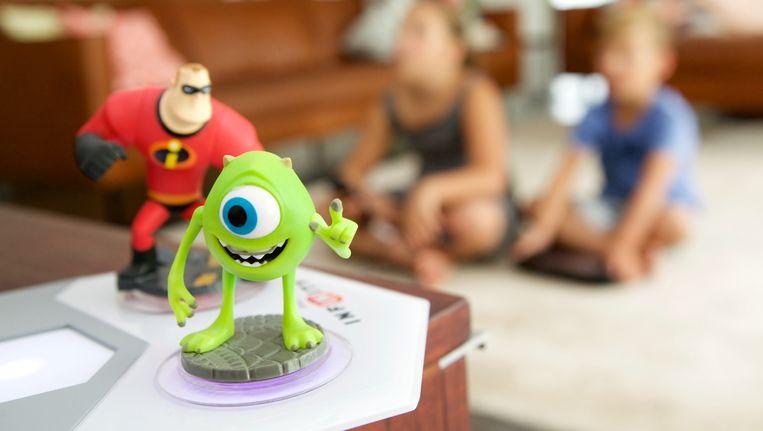 Kinderen die spelen met de Disney Infinity Game. Beeld Leen Van den Meutter