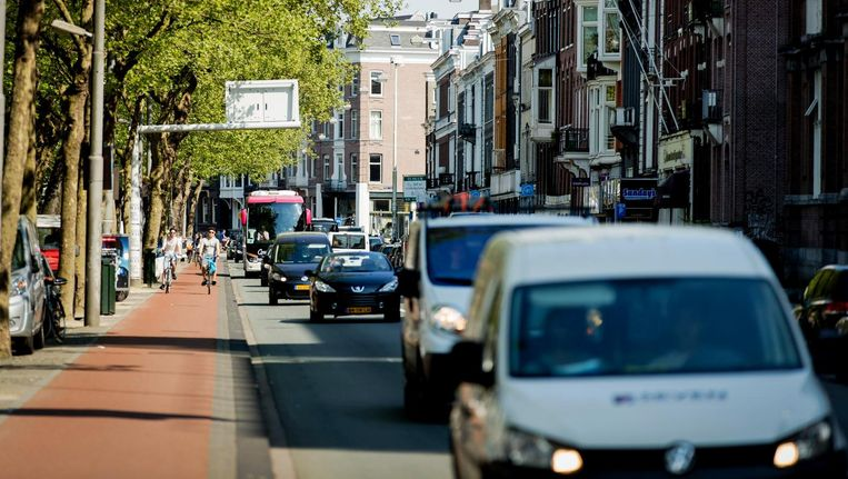 De ongezondste plek van Amsterdam is de Stadhouderskade door de relatief hoge concentratie stikstofdioxide. Beeld anp
