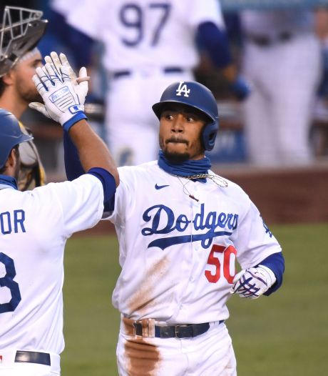Betts in recordboeken na drie homeruns voor Dodgers