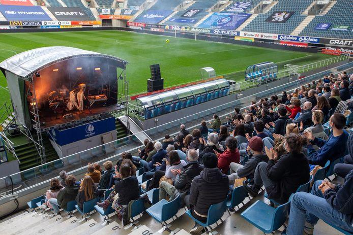 L'événement-test se tenait à la Ghelamco Arena (stade de La Gantoise) ce 15 mai