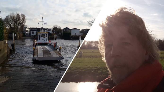 Maarten Molenaar, de eenzamer fietster, vlogt over het pontje tussen Moordrecht en Gouderak.