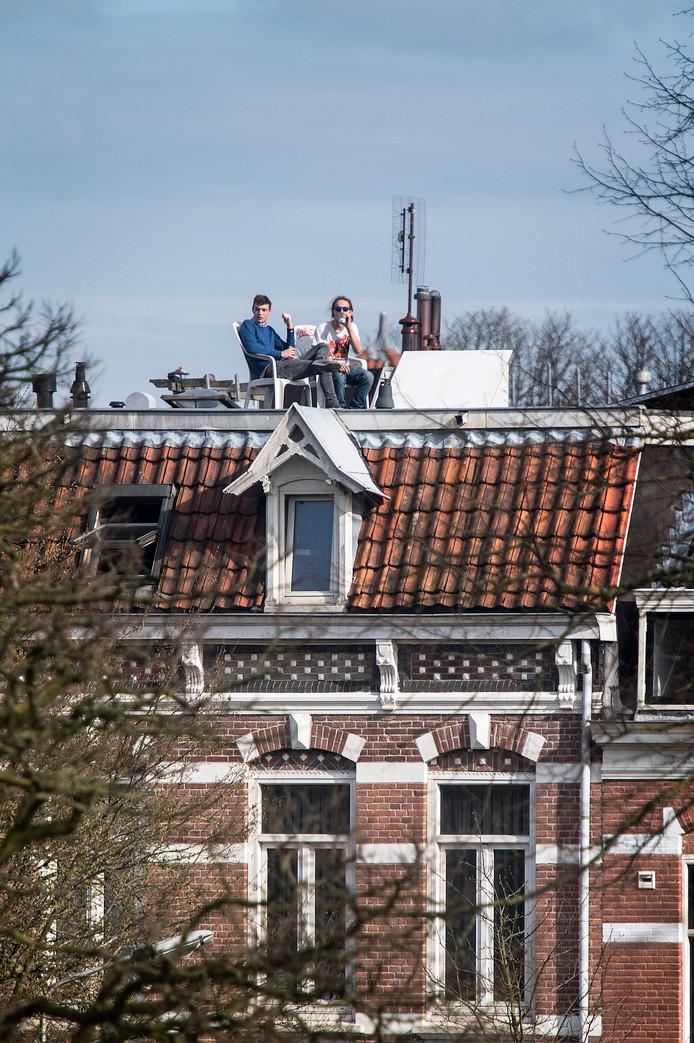 Nederland/Nijmegen: Studenten in de zon