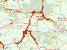 Verkeer in regio Arnhem, Nijmegen en Ede muurvast in  op één na drukste avondspits van het jaar