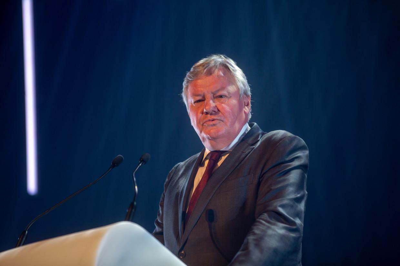 Waals Parlementsvoorzitter Jean-Claude Marcourt op de Fêtes de Wallonië. Beeld BELGA