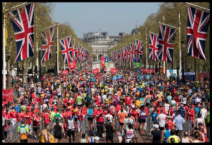 De marathon van Londen.
