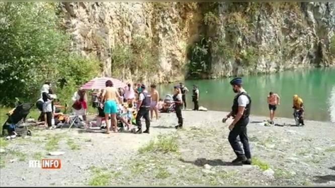 Trois baigneurs arrêtés dans une carrière à Mont-sur-Marchienne