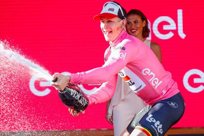 ...mocht de Duitse krachtpatser van Lotto-Soudal een feestje bouwen op het podium.