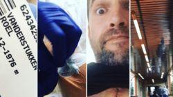 Roel Vanderstukken toont zijn litteken na hartoperatie