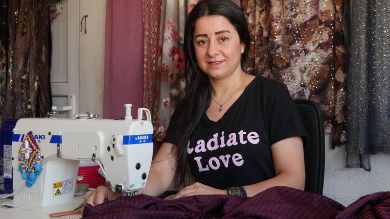 Faeza Elyas: 'Ik ben de kostwinner.' Beeld Bruno Struys