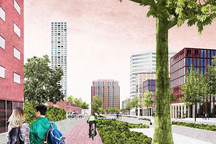 De Burgemeester Brokxlaan in oostelijke richting in 2028.