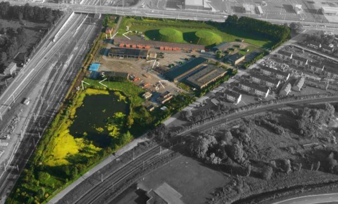 Het domein Knaepen in Zeebrugge wordt een uitgebreid park: een impressie van hoe het er kan uitzien.