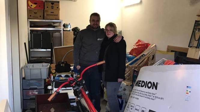 """Week na zware woningbrand hebben Diego (31) en Stefanie (29) al een nieuw interieur: """"Met dank aan vrienden, familie en zelfs vreemden"""""""