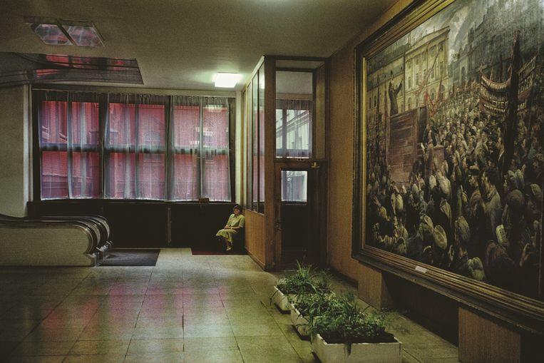 Treurnis troef in het Museum van de Revolutie, Moskou. Beeld rv Harry Gruyaert