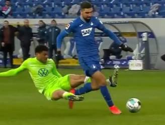 Wolfsburg-verdediger trekt aan noodrem met hallucinante tackle, Casteels moet zich na 673 minuten nog eens omdraaien